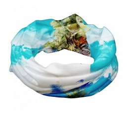 Foulard blanc polyester magique multifonctions