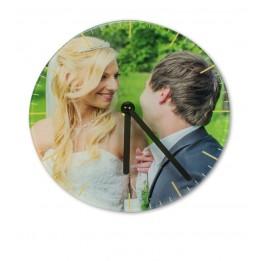 Horloge ronde murale en verre lisse Ø 29 cm