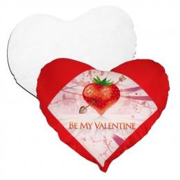 Housse de coussin coeur rouge 42 x 38 cm toucher très doux avec garniture