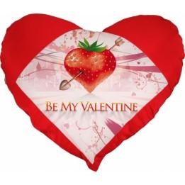 Housse de coussin coeur rouge 42 x 38 cm toucher très doux