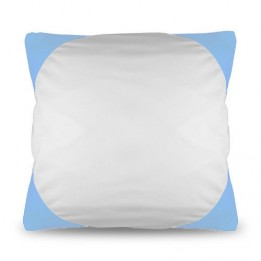 Housse de coussin bicolore 40 x 40 cm avec angles coloris bleu ciel