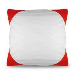 Housse de coussin bicolore 40 x 40 cm avec angles coloris rouge