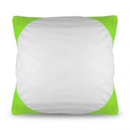 Housse de coussin bicolore 40 x 40 cm avec angles coloris vert clair