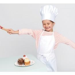 Kit chef de cuisine enfant avec tablier et toque 100% coton