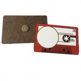 Magnet en MDF format cassette 8 x 5 cm - Epaisseur 3 mm (vendu à l'unité)