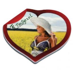 Magnet en MDF format coeur 5 x 5 cm - Epaisseur 3 mm (vendu à l'unité)