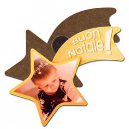 Magnet en MDF format étoile filante 7 x 4,5 cm - Epaisseur 3 mm (vendu à l'unité)