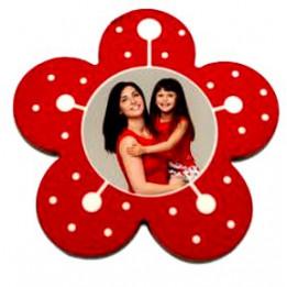 Magnet en MDF format fleur 6 x 6 cm - Epaisseur 3 mm (vendu à l'unité)