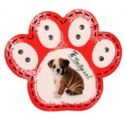 Magnet en MDF format patte de chien 7 x 6 cm - Epaisseur 3 mm (vendu à l'unité)