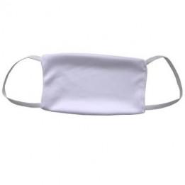 Masque facial lavable avec élastiques microfibres 16 x 10 cm pour sublimation (vendu à l'unité)