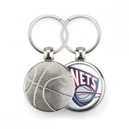 "Lot de 100 porte-clés métalliques Ø 30 mm ""MBK"" Basket-ball"