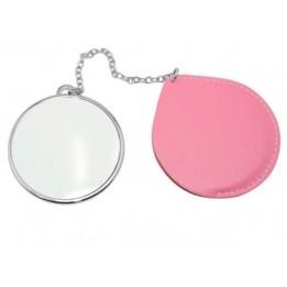Miroir de poche carré rond personnalisable en sublimation