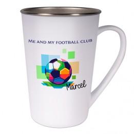 Mug en inox en forme conique 450 ml Ø 88 mm H 127 mm (vendu à l'unité)