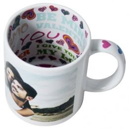 Mug à thème I Love You céramique traité 100% polyester