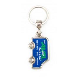 """Lot de 100 porte-clés métalliques """"MV"""" camion"""