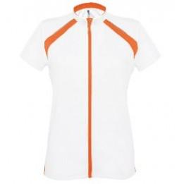 Tee-shirt cycliste zippé femme bicolore (3 coloris) PA448