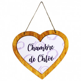 Pancarte en bois HDF à suspendre coeur 22,2 x 19,4 cm pour sublimation (vendu à l'unité)