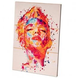 Panneau photo en bois de bouleau surface lignée blanche naturelle 285 x 400 x 13 mm (vendu à l'unité)
