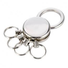 Porte-clé en métal argenté 3,3 x 2,5 cm avec anneaux détachables (vendu par 2 pièces)