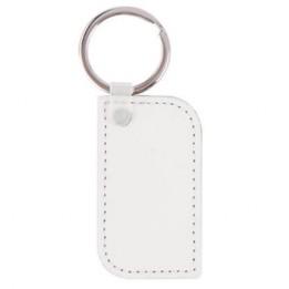 Porte-clé rectangulaire simili cuir avec angles arrondis 3 x 5,5 cm (vendu par 2 pièces)