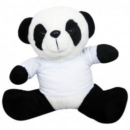 Peluche Panda H 19 cm avec mini tee-shirt pour sublimation