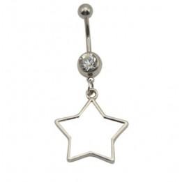 Piercing nombril étoile 20 mm personnalisable en sublimation