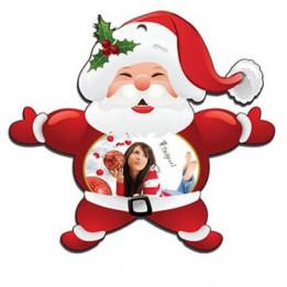 Père Noël en plastique blanc 12 x 11 cm épaisseur 3 mm (vendu à l'unité)