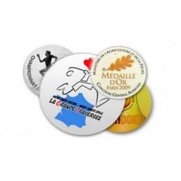 Plaque en aluminium pour médaille sportive