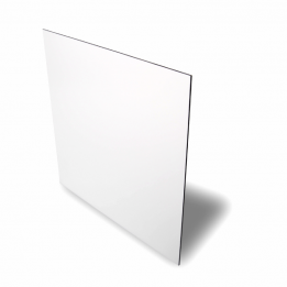 Plaque aluminium 0.5 mm blanc brillant 15 x 20 cm
