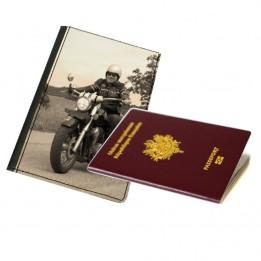 Pochette en cuir synthétique pour passeport