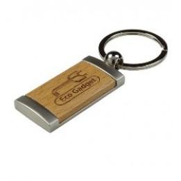Porte-clé en bois d'érable avec gravure
