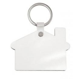 Porte-clé en MDF blanc brillant maison