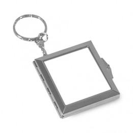 Porte-clé miroir refermable carré 5 x 4,5 cm sublimable recto/verso