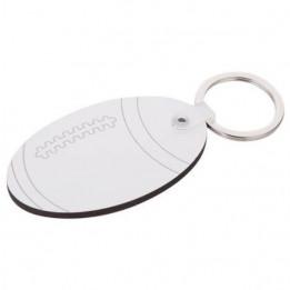 Porte-clé MDF format ballon de rugby 4 x 6,5 cm (vendu à l'unité)