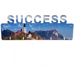 Panneau porte-clés mural SUCCESS MDF 27,5 x 10 cm avec 5 crochets