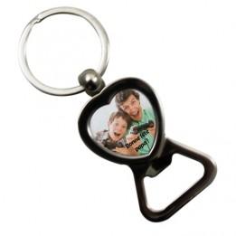 Porte-clé décapsuleur forme coeur
