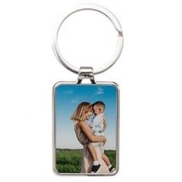 Porte-clé en métal luxe rectangle 3 x 4,8 cm (vendu à l'unité)