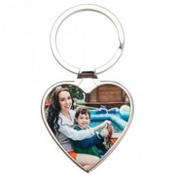 Porte-clé en métal luxe cœur 4 x 3,8 cm (vendu à l'unité)