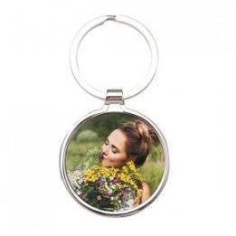 Porte-clé en métal luxe rond Ø 4 cm (vendu à l'unité)