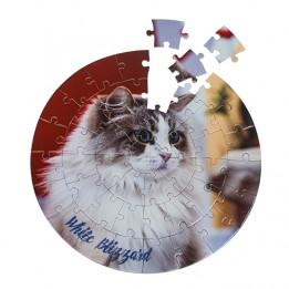 Puzzle sans cadre rond Ø 20 cm épaisseur 2 mm - 46 pièces