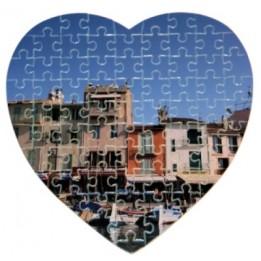 Puzzle coeur 20 x 25 cm épaisseur 2 mm