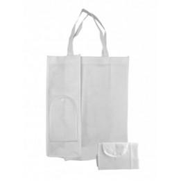 Sac shopping blanc pliable pour sublimation 60 x 30 cm
