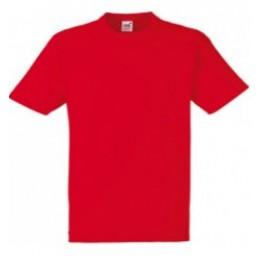 Tee-shirt rouge 100% coton 185 gr/m² S à XXXL