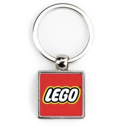 "Lot de 100 porte-clés métalliques carrés ""SM-10D"" 2 faces 25 x 25 mm"