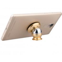 Support smartphone magnétique doré avec plaque alu sublimable (vendu à l'unité)