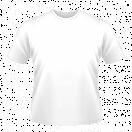 Tee-shirt blanc enfant pour sublimation 100% coton intérieur 100% polyester extérieur (vendu à l'unité)
