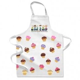 Tablier de cuisine blanc enfant 38 x 50 cm (3 - 6 ans) personnalisable en sublimation (vendu à l'unité)