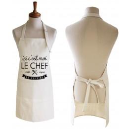 Tablier de cuisine en tissu imitation chanvre 83 x 63 cm 410 g/m² 100% sublimable (vendu à l'unité)