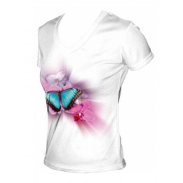 Tee-shirt femme toucher coton  col V 190 g/m² - 3 tailles
