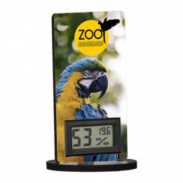 Thermomètre digital avec support MDF en fibres dures 60 x 120 mm (vendu à l'unité)